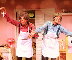 Barbara Gehring and Linda Klein in Girls Only: The Secret Comedy of Women Photo by Terry Shapiro